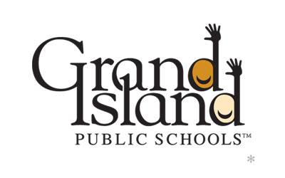 Grand Island Public Schools logo design by infuze creative