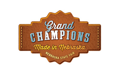 Nebraska State Fair Grand Champions logo design by infuze creative