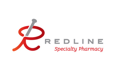 Redline Specialty Pharmacy logo design by infuze creative