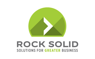 rock solid business logo design by infuze creative