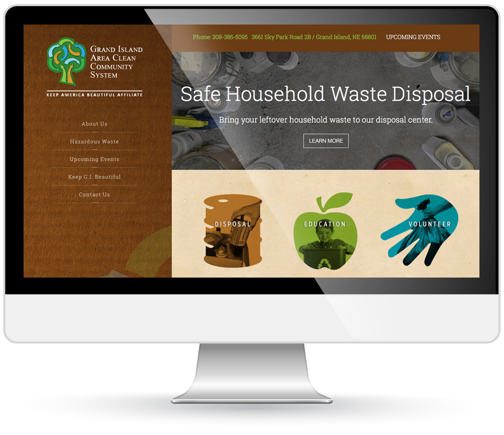 gi clean community systems website design
