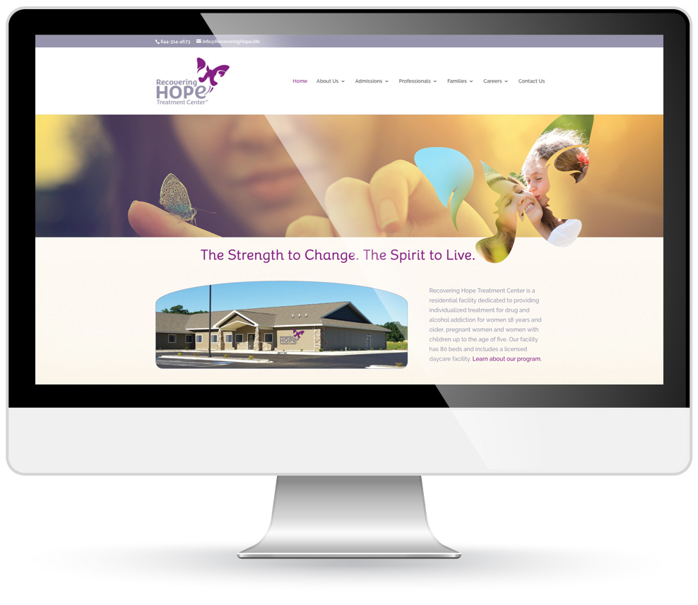 Recovering Hope website design