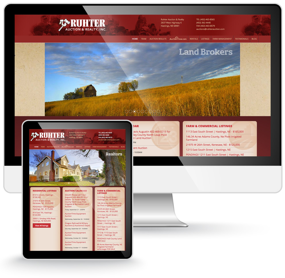 Ruhter Auction website design
